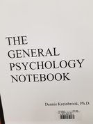 THE GENERAL PSYC NOTEBOOK (White Cover )